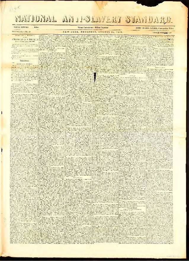 National Anti-Slavery Standard, Year 1848, Aug 24