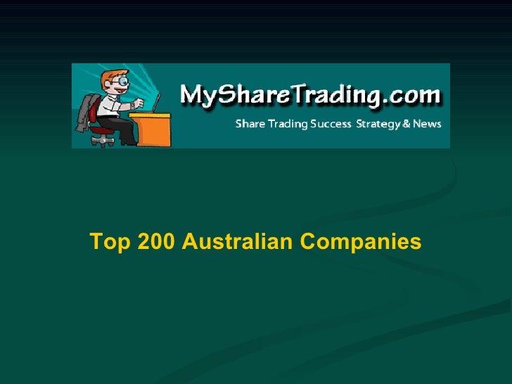 Top 200 Australian Companies