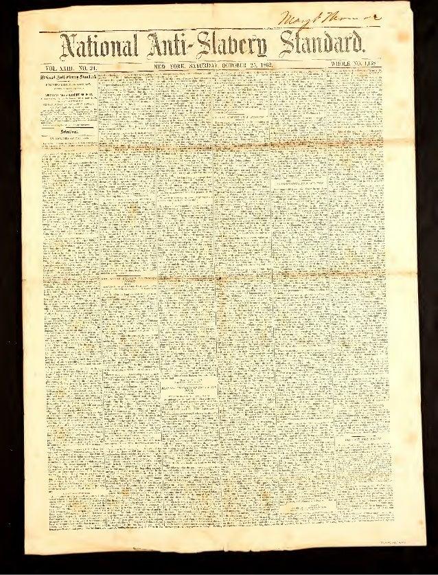 "jMoiml ^uti VOL. XXIII. NO. 24. ""NEW YORK, SATURDAY, OCTOBER 25, 1862. PDDL1SOED WEEKLY. ON SATURDAT, UUERICAN AKTI-SUYERV..."