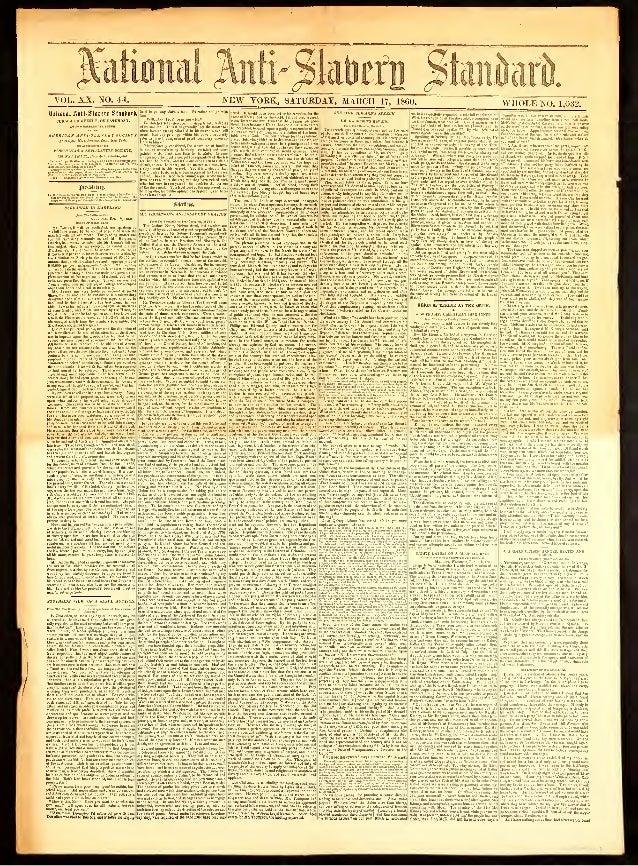 National Anti-Slavery Standard, Year 1860, Mar 17