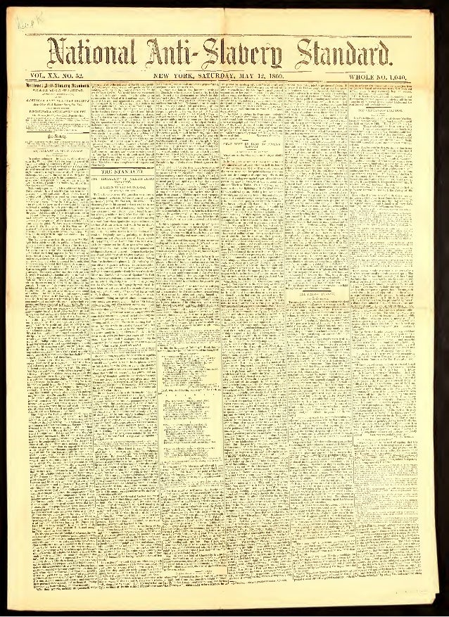 National Anti-Slavery Standard, Year 1860, May 12