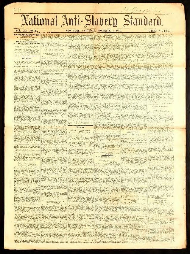 National Anti-Slavery Standard, Year 1860, Nov 3