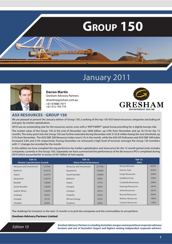 "Gresham ""Group 150"" - January 2011"