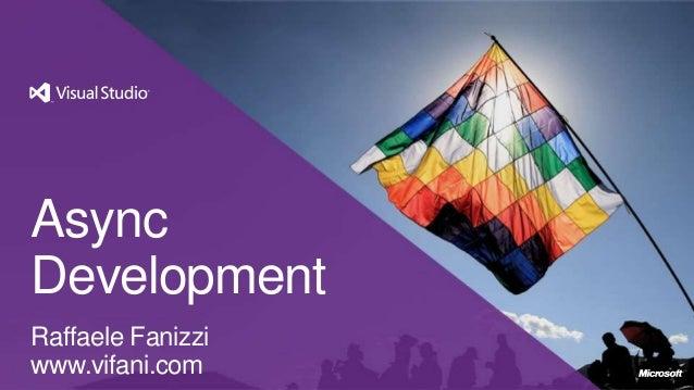 Async Development con Visual Studio 2012