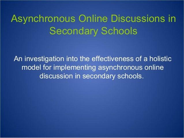 Asynchronous Online Discussions : : Teacher Presentation