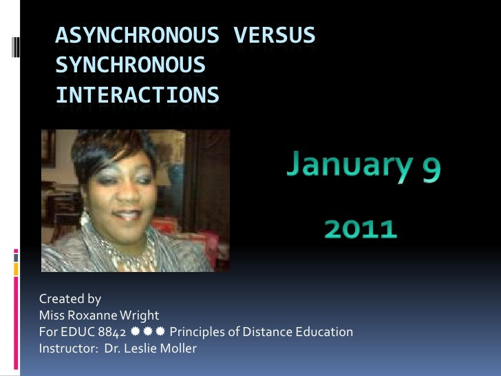 Asynchronous versus synchronous storyboard