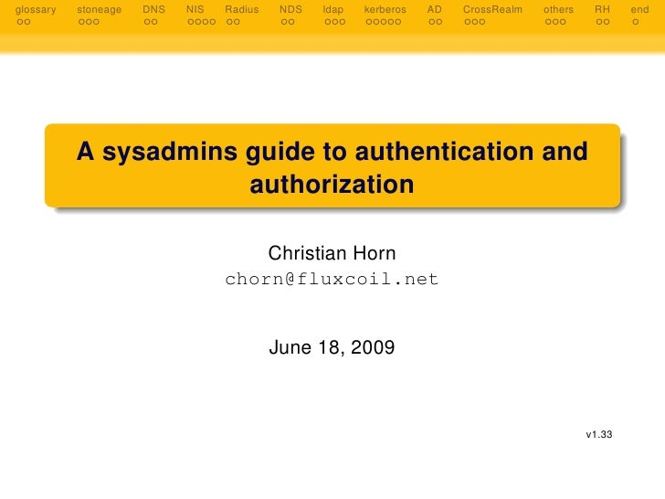 A Sysadmins Guide To Authentication And Authorization  Chhorn  Current