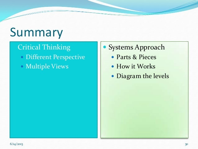 role of organizing in critical thinking Organizational behavior and management thinking describe the role of thinking in communication explain the role of thinking in organizational change and.