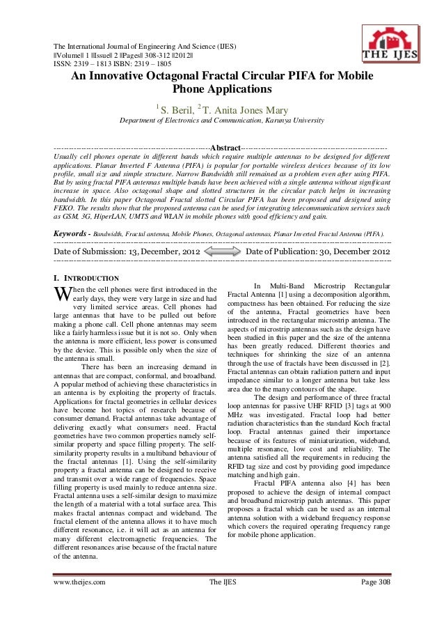 The International Journal of Engineering And Science (IJES)||Volume|| 1 ||Issue|| 2 ||Pages|| 308-312 ||2012||ISSN: 2319 –...