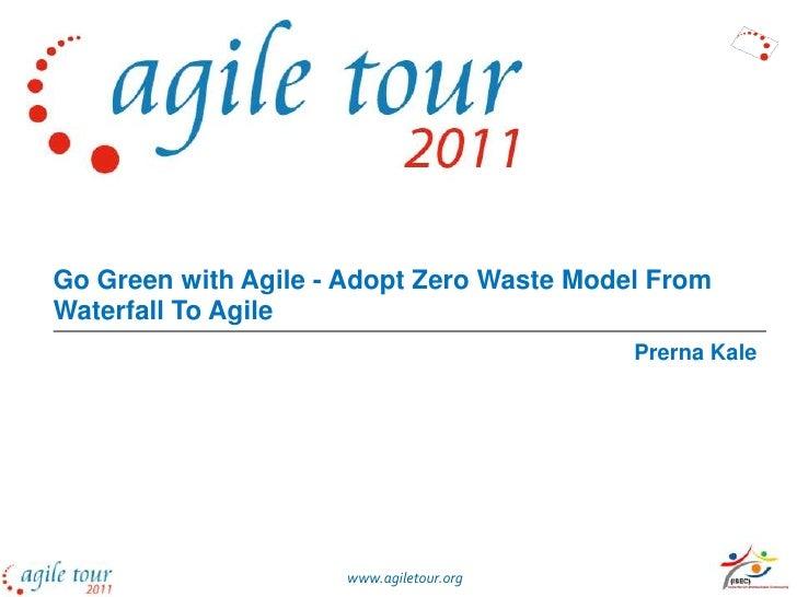 Go Green with Agile
