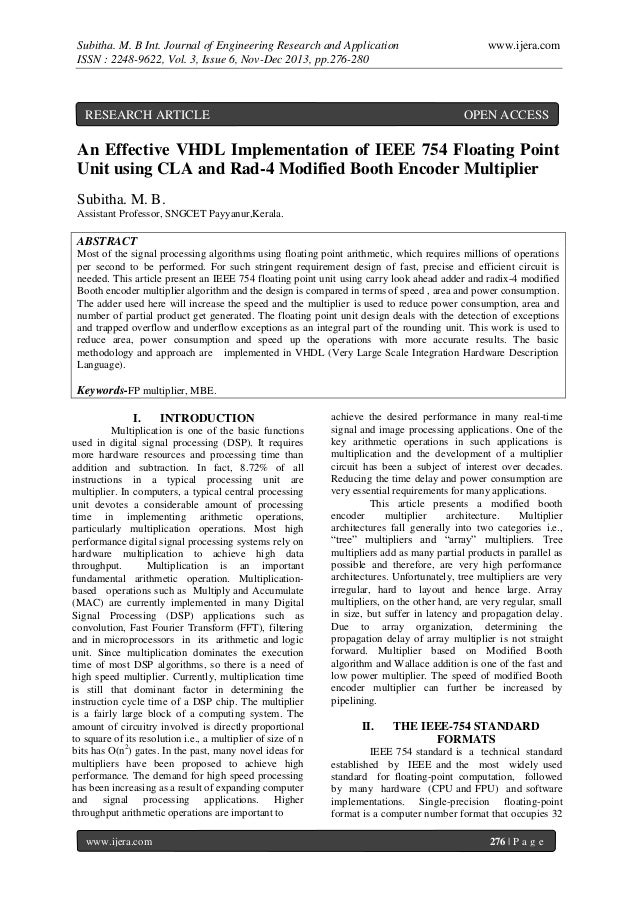Subitha. M. B Int. Journal of Engineering Research and Application ISSN : 2248-9622, Vol. 3, Issue 6, Nov-Dec 2013, pp.276...