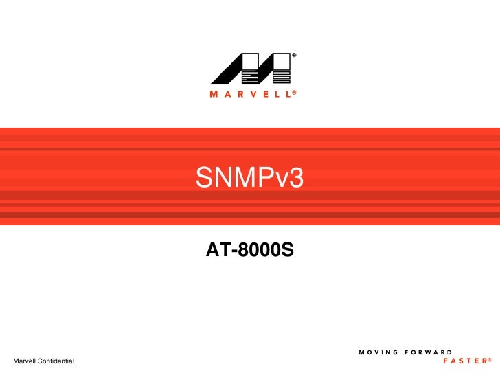SNMPv3                         AT-8000S     Marvell Confidential