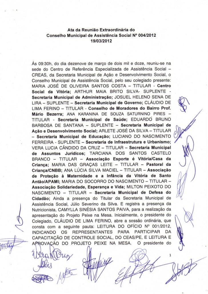 Ata Nº004/2012 - CMAS