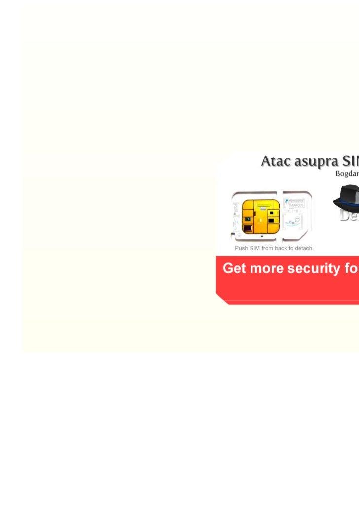 Atac asupra SIM Toolkit - Bogdan Alecu