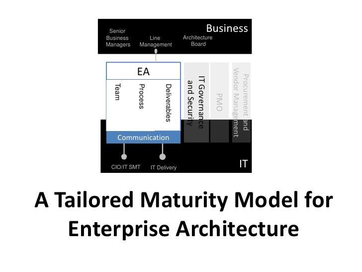 A tailored enterprise architecture maturity model