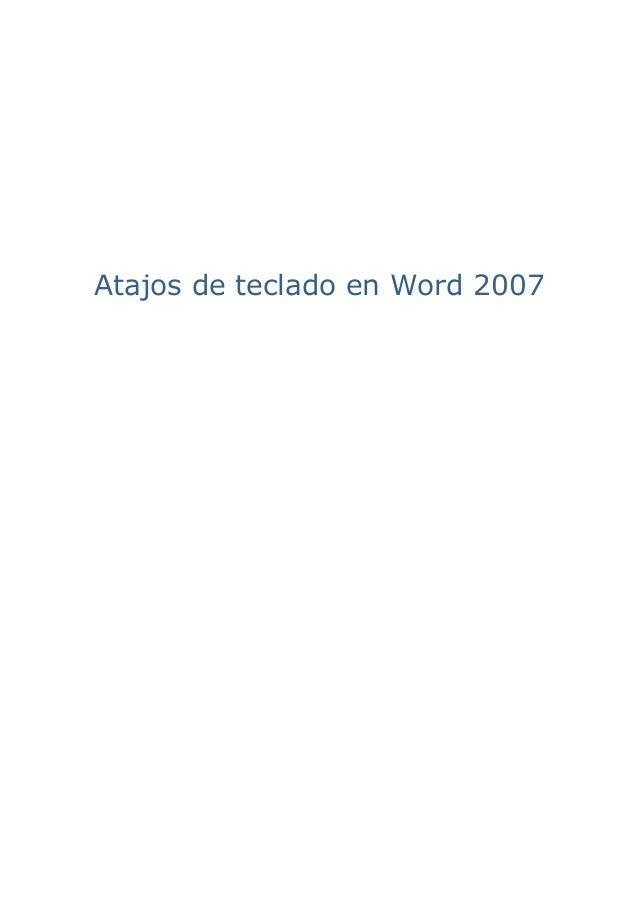 Atajos de teclado en Word 2007
