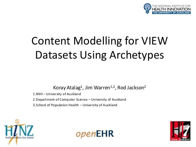Content Modelling for VIEW Datasets Using Archetypes