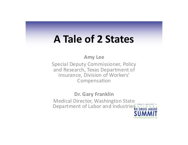 A	  Tale	  of	  2	  States	                   Amy	  Lee	  Special	  Deputy	  Commissioner,	  Policy	   and	  Research,	  T...