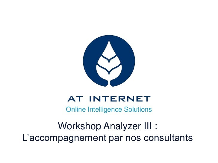 Online Intelligence Solutions       Workshop Analyzer III :L'accompagnement par nos consultants