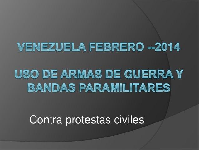 Contra protestas civiles