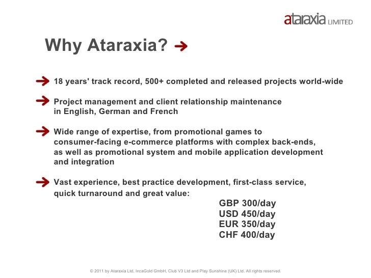 Ataraxia showreel