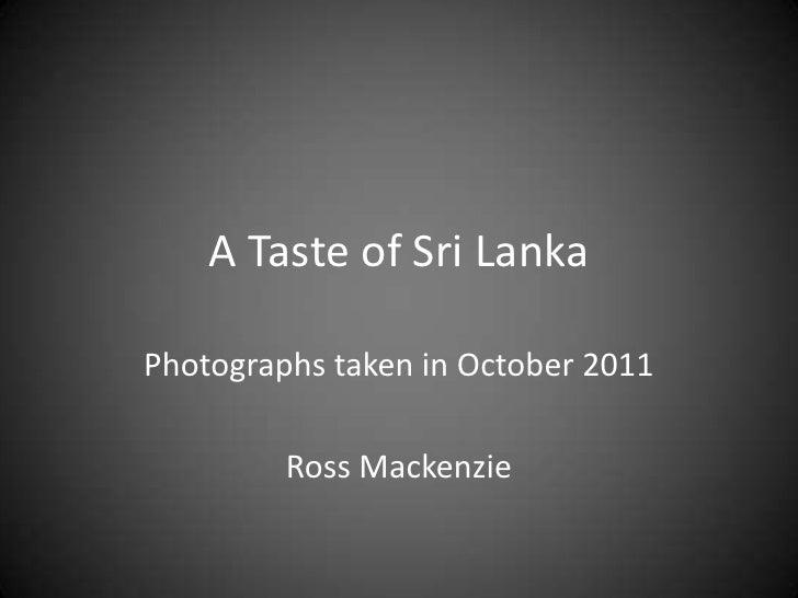 A Taste of Sri Lanka