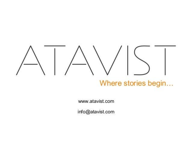Evan Ratliff - Atavist. Where Stories Beging...