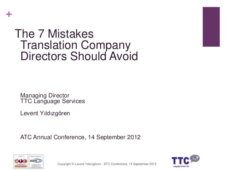 Essential Mistakes Translation Company Directors Should Avoid