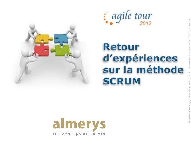 Atclt 2012 - Présentation Almerys agile tour 2012 - Alain Marcoz