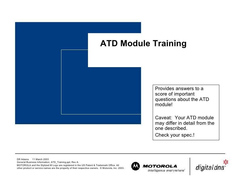 ATD Module Training                                                                                                       ...