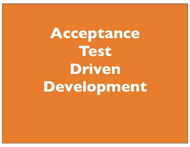 Acceptance Test Driven Development