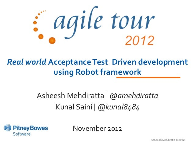 Acceptance Test Driven Development using Robot Framework