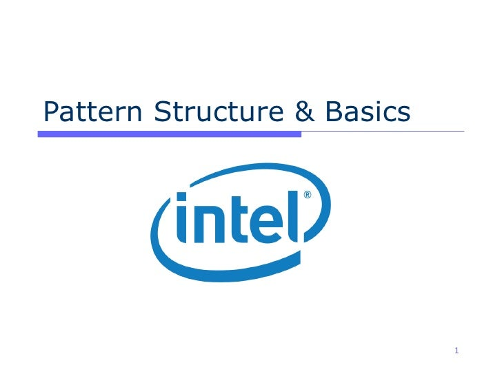 Pattern Structure & Basics