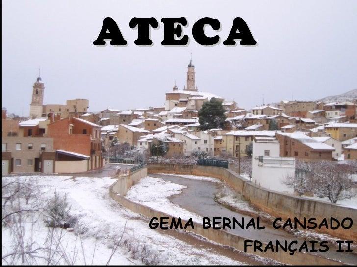 ATECA GEMA BERNAL CANSADO          FRANÇAIS II