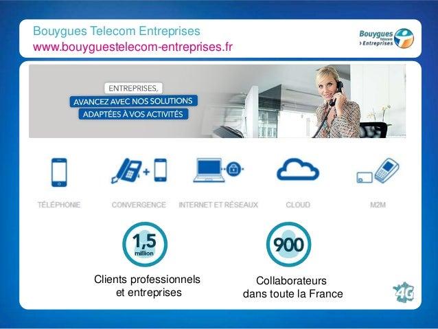 Bouygues Telecom Entreprises www.bouyguestelecom-entreprises.fr Clients professionnels et entreprises Collaborateurs dans ...