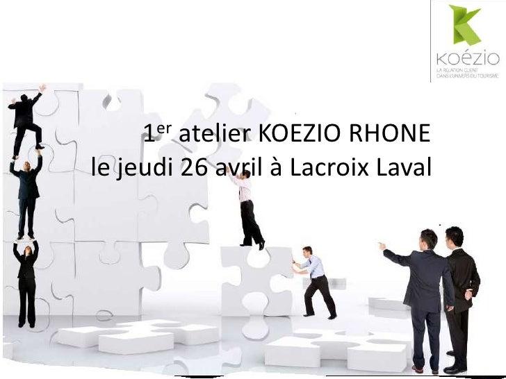 1er atelier KOEZIO RHONEle jeudi 26 avril à Lacroix Laval