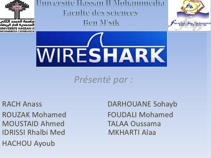 Présenté par :RACH Anass                  DARHOUANE SohaybROUZAK Mohamed              FOUDALI MohamedMOUSTAID Ahmed       ...