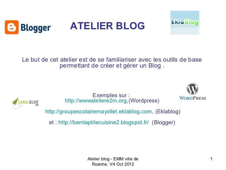 Un blog, Kézaco ?