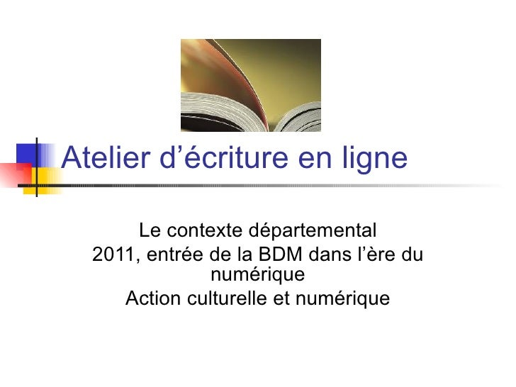 Atelier ecriture 2012 bis