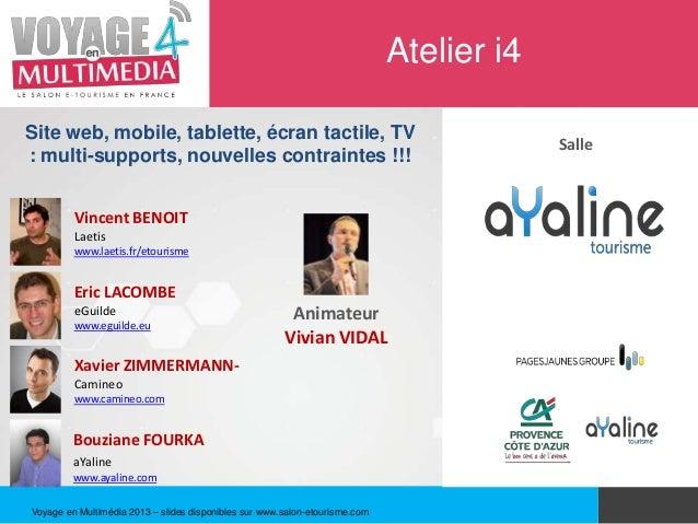 Atelier i4Site web, mobile, tablette, écran tactile, TV                                                                   ...