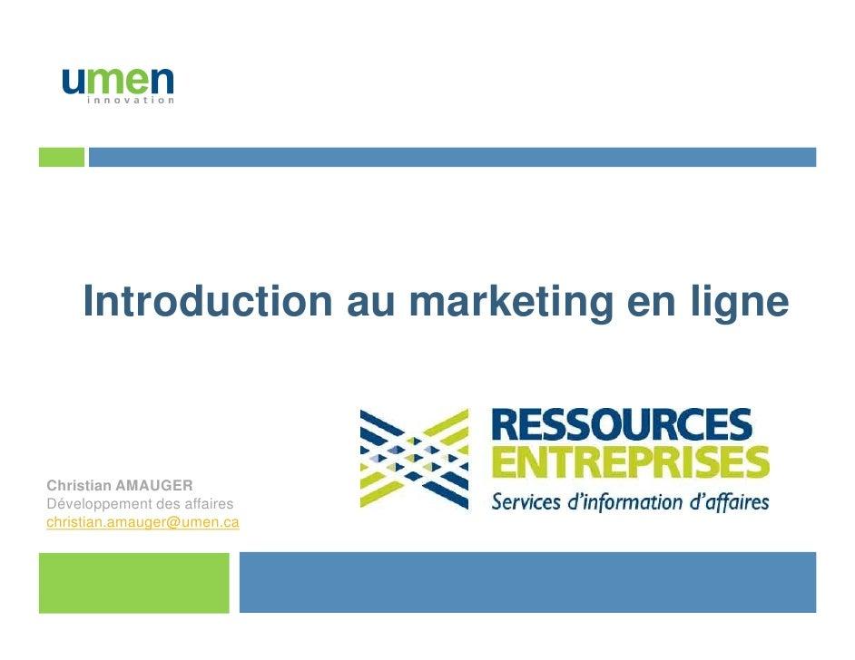 Introduction au marketing en ligne