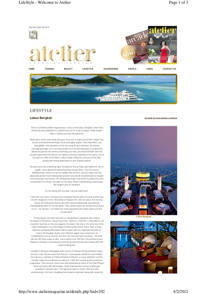 LifeStyle - Welcome to Atelier                                                                                            ...