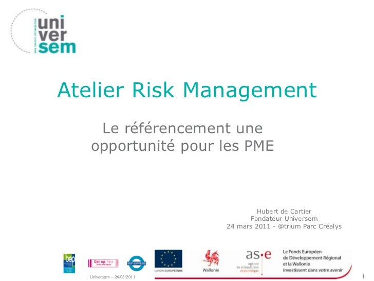 Référencement pour les PME : atelier Risk Management