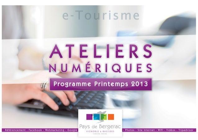 Ateliers numeriques printemps_2013 - Pays de Bergerac