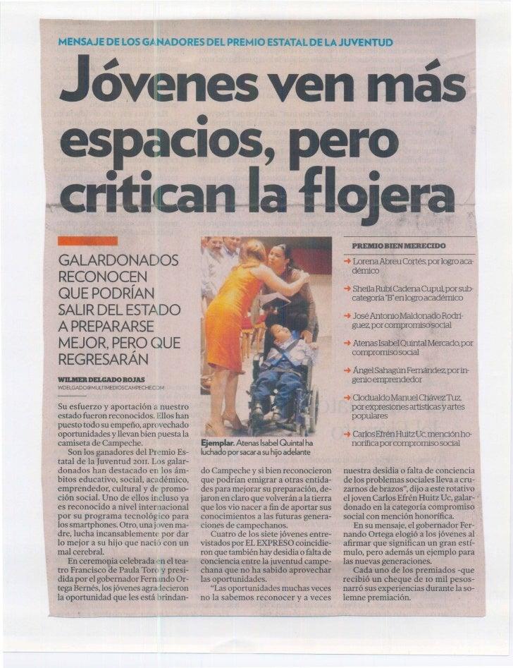 Recopilación de periódicos del PEJ Campeche 2011