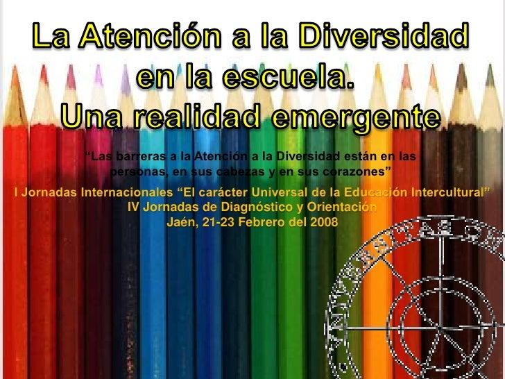 AtencióN A La Diversidad En La Escuela