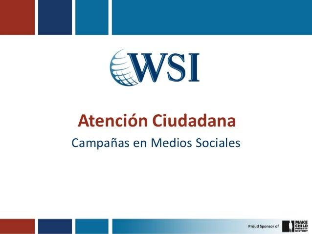 Atención Ciudadana Campañas en Medios Sociales