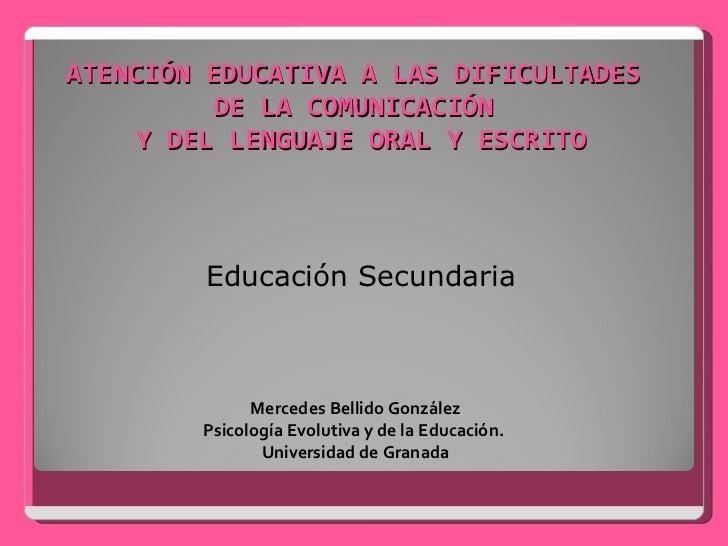 Atención educativa a las dificultades de la comunicación y del lenguaje