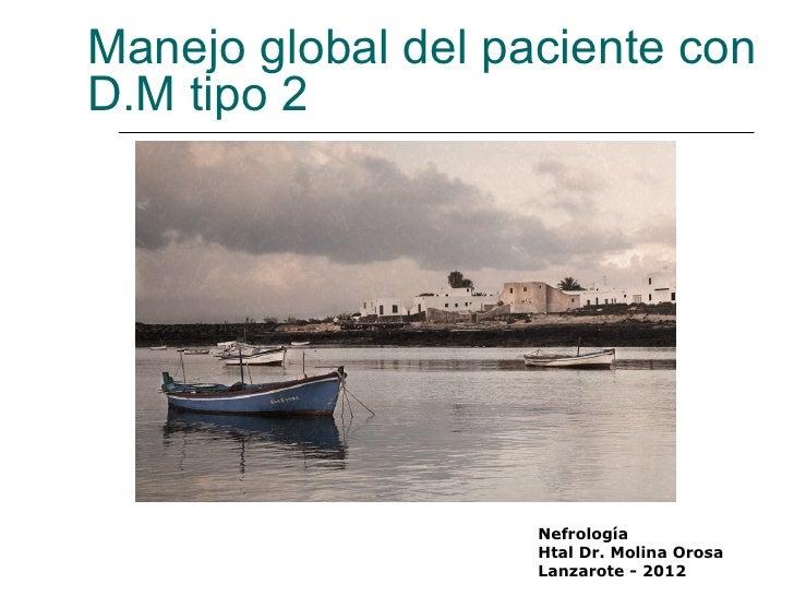Manejo global del paciente conD.M tipo 2                    Nefrología                    Htal Dr. Molina Orosa           ...