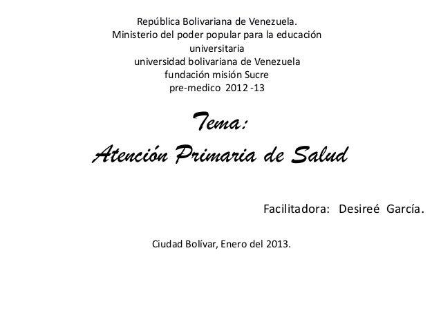 República Bolivariana de Venezuela. Ministerio del poder popular para la educación                  universitaria     univ...